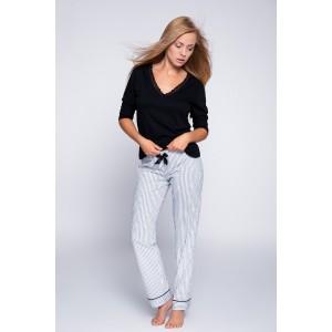 Пижама женская кофта рукав 3/4/штаны NLP-MARLIN Чёрный Sensis