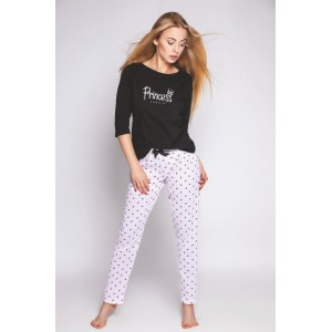 Пижама женская кофта рукав 3/4/штаны NLP-PRINCESS Розовый Sensis